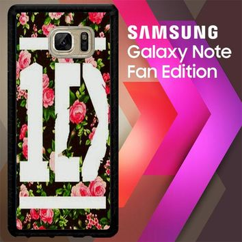 1D One Direction Floral V0288 Samsung Galaxy Note FE Fan Edition Case