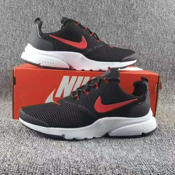 NIKE V3 Casual Sports Shoes running shoes Sneakers Black red hook H-CSXY