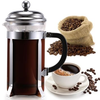 1000ml French Style Press Coffee Tea Maker Coffess Press Pot Stainless Steel Glass Coffee & Tea Tool