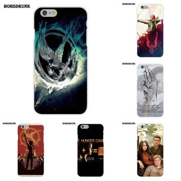 EJGROUP Soft Phone Cover Case For Apple iPhone 4 4S 5 5C SE 6 6S 7 8 Plus X New Hunger Games
