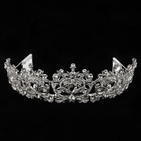 Hibiscus Headdress Crown Tiara Silver