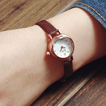 Womens Simple Classic Leather Watch
