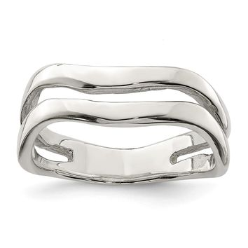 925 Sterling Silver Wave Band Ring