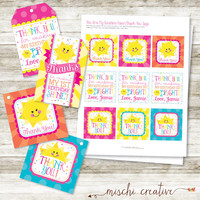 You are My Sunshine My Only Sunshine DIY Printable Favor and Gift Tags - 2 Styles