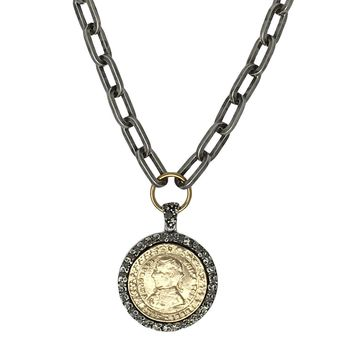 Tat2 Designs Gold & Vintage Silver Plated Wolfe Ton Necklace