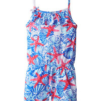 Lilly Pulitzer Kids Clinton Romper (Toddler/Little Kids/Big Kids) Resort White She She Shells Small - Zappos.com Free Shipping BOTH Ways