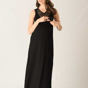Ever After Black Nursing Maxi Dress