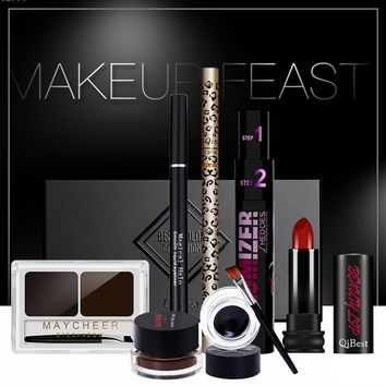 Professional Makeup Set Eye shadow Mascara Eyebrow Powder Palette Lip Eye liner Makeup Kit Y2