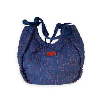 Marc By Marc Jacobs Blue W/ Red Stitching Tote