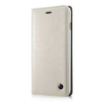 CaseMe PU Leather Magnet Flip Case For iPhone 6   6s - White c7caed8e13