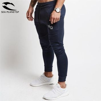 Vanquish 2018 NEW Gyms Mens Casual Joggers Pants Men High Street Workout Pant Skinny Sweatpants Black Elasticity Men Casual Pant