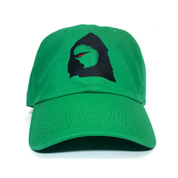 Kermit The Frog Dark Vader Meme Green Dad Hat Cap