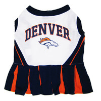 Denver Broncos Pet Cheerleader Outfit