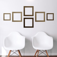 wall decal - Brown Frames