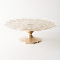 Metallic Lace Cake Stand