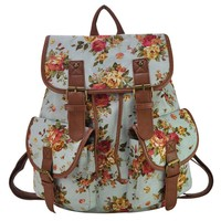 Floral Canvas Fashion Blue Camping ..