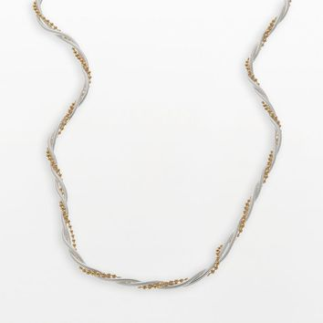 Napier Two Tone Twist Chain Necklace - 18-in.