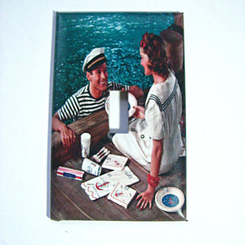 Light Switch Cover - Light Switch Plate Nautical Picnic