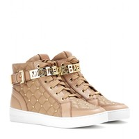 Essex embellished leather high-top sneakers