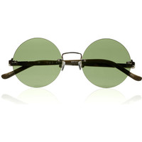 The Row Round-frame metal sunglasses