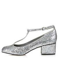 JAZZ Glitter Mid Shoes - Silver