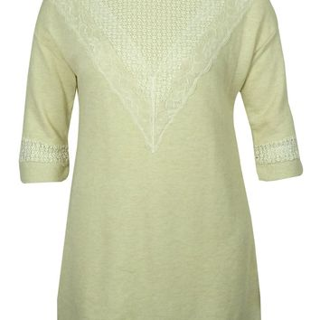 Style & Co Women's Lace-Trim Tunic Sweater