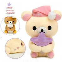 San-X Rilakkuma Sleep Over 6 Plush with Removable Pillow: Little Bear