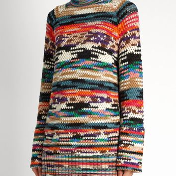 Roll-neck wool-blend mini dress | Missoni | MATCHESFASHION.COM US