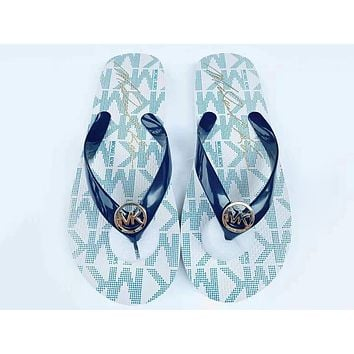 GUCCI Fashion Women Print Sandal Slippers Shoes Beach Flip-Flops White