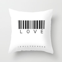 LOVE is all you need Throw Pillow by findsFUNDSTUECKE