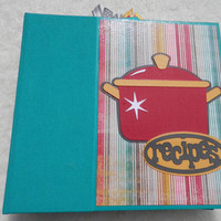 Handmade Recipe Scrapbook Album 6x6