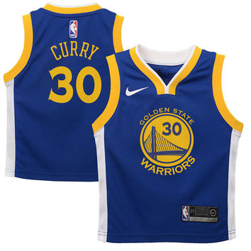 Toddler Golden State Warriors Stephen Curry Nike Blue Replica Jersey - Icon Edition