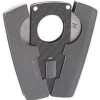 Black Label Baron Sparkling Dark Gun & Carbon Fiber Cigar Cutter