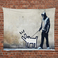 Choose Your Weapon 50x60 Wall Tapestry by Banksy