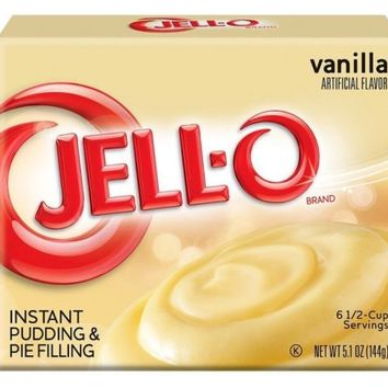 Jello Vanilla Instant Pudding & Pie Filling Mix 5.1oz Box