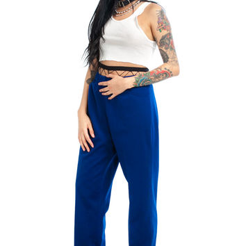 Vintage 70's It's All Over Now Blue Trousers - XS/S