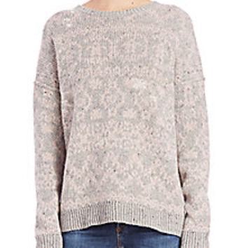 Wildfox - Built In A Day Printed & Distressed Sweater - Saks Fifth Avenue Mobile