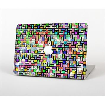 The Colorful Abstract Tiled Skin Set for the Apple MacBook Air 11""