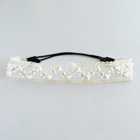 Delicate Lace Beaded Headband