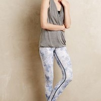 Featherlight Leggings by Vie Active Blue Motif