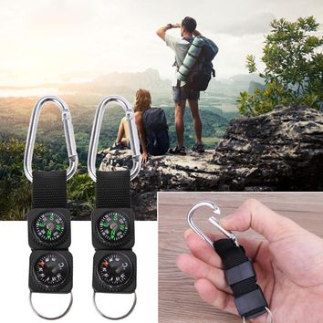 Outdoor Sport Keychain Carabiner Travel Hiking Compass Thermometer Survival Tool   DNG_3