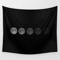 Moon Wall Tapestry by Taylor Bissett