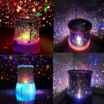 LED Night lamps Romantic Colorful Star Master Sky Universal Lamp Cosmos Projector Light Lighting