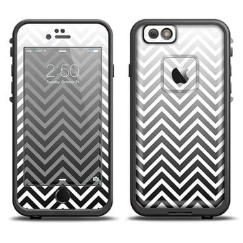 The White & Gradient Sharp Chevron LifeProof Case Skin Set (Other LifeProof Models Available!)