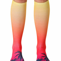 Sunset Knee High Socks