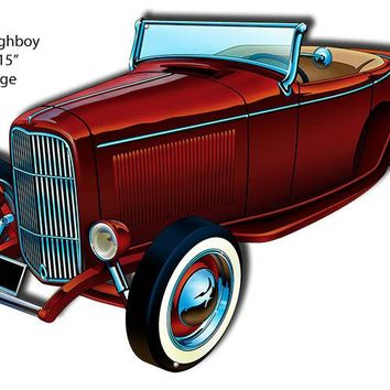 32 Ford Highboy Laser Cut Out By Artist Bernard Oliver 15″x23″