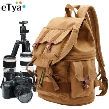 Canvas  Large Capacity Camera Bag Backpacks Multifunction  Shoulder Bag Travel Bag Luggage Suitcase