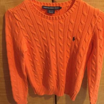 Ralph Lauren Sport Orange Sweater (Polo by Ralph Lauren)
