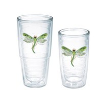 Tervis® Shimmer Layered Green Dragonfly Tumblers