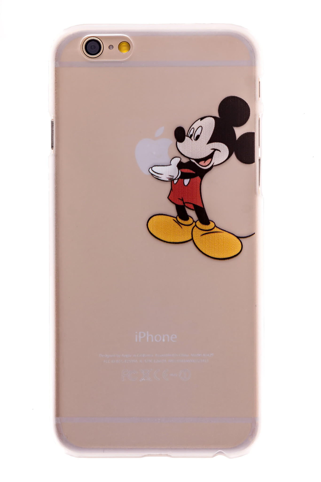 Mickey Mouse Transparent Back Cover Case From Bestcellgear